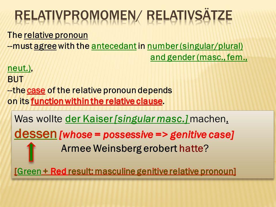 RelativPromomen/ RelativSätze