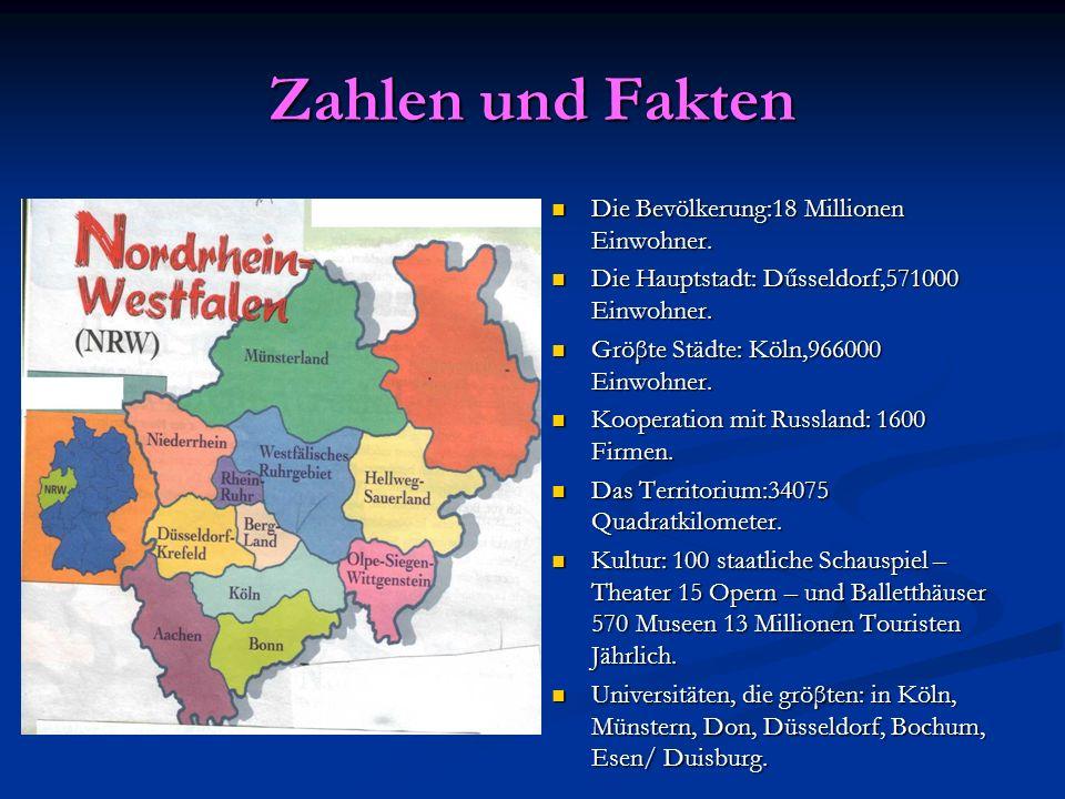 Zahlen und Fakten Die Bevölkerung:18 Millionen Einwohner.