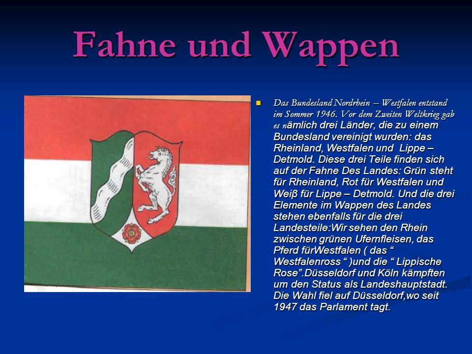 Fahne und Wappen