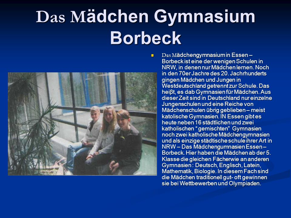 Das Mädchen Gymnasium Borbeck