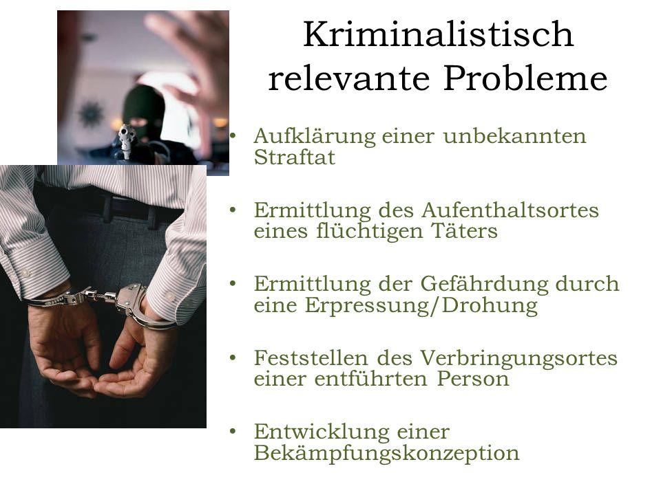 Kriminalistisch relevante Probleme