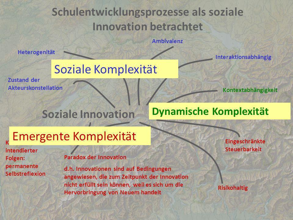 Schulentwicklungsprozesse als soziale Innovation betrachtet