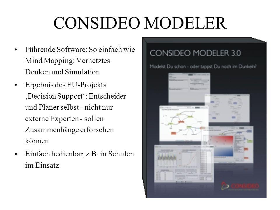 CONSIDEO MODELER Führende Software: So einfach wie Mind Mapping: Vernetztes Denken und Simulation.