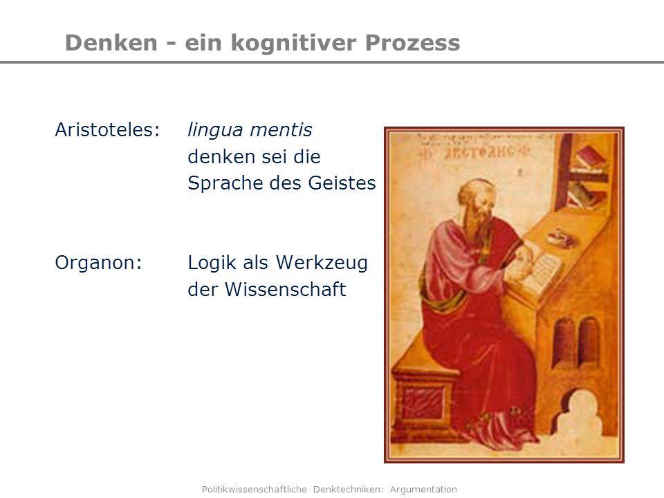 Denken - ein kognitiver Prozess