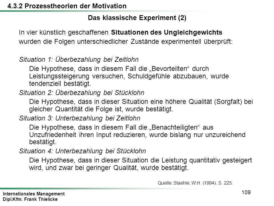 Das klassische Experiment (2)