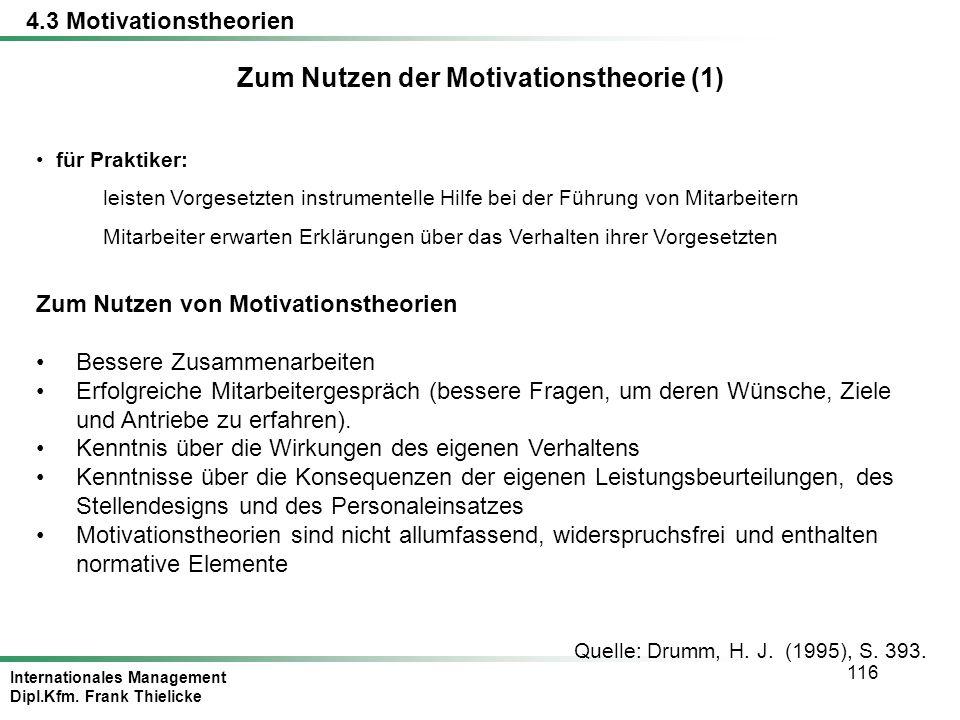 Zum Nutzen der Motivationstheorie (1)