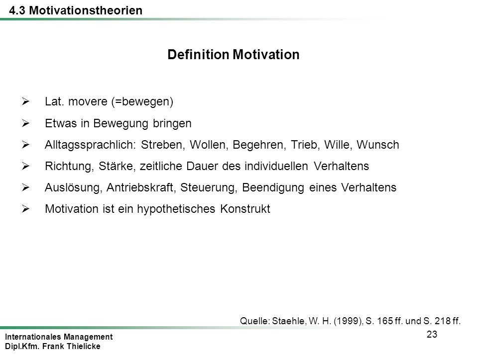 Definition Motivation
