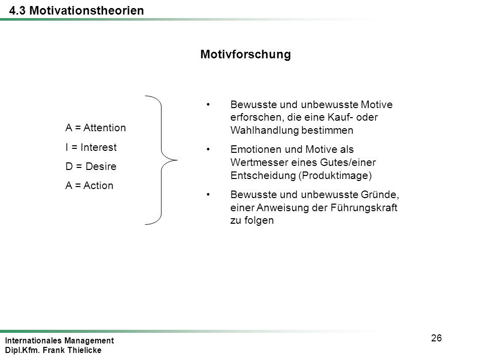 4.3 Motivationstheorien Motivforschung