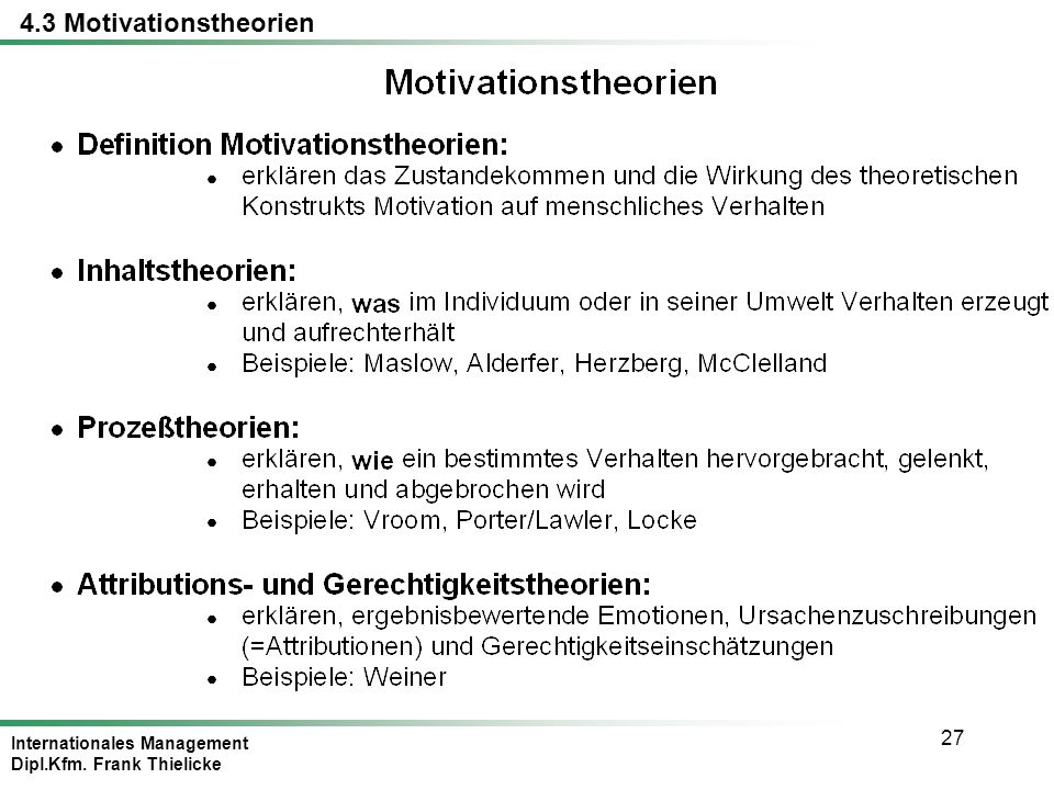 4.3 Motivationstheorien