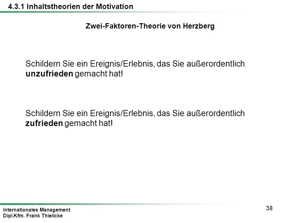 Zwei-Faktoren-Theorie von Herzberg
