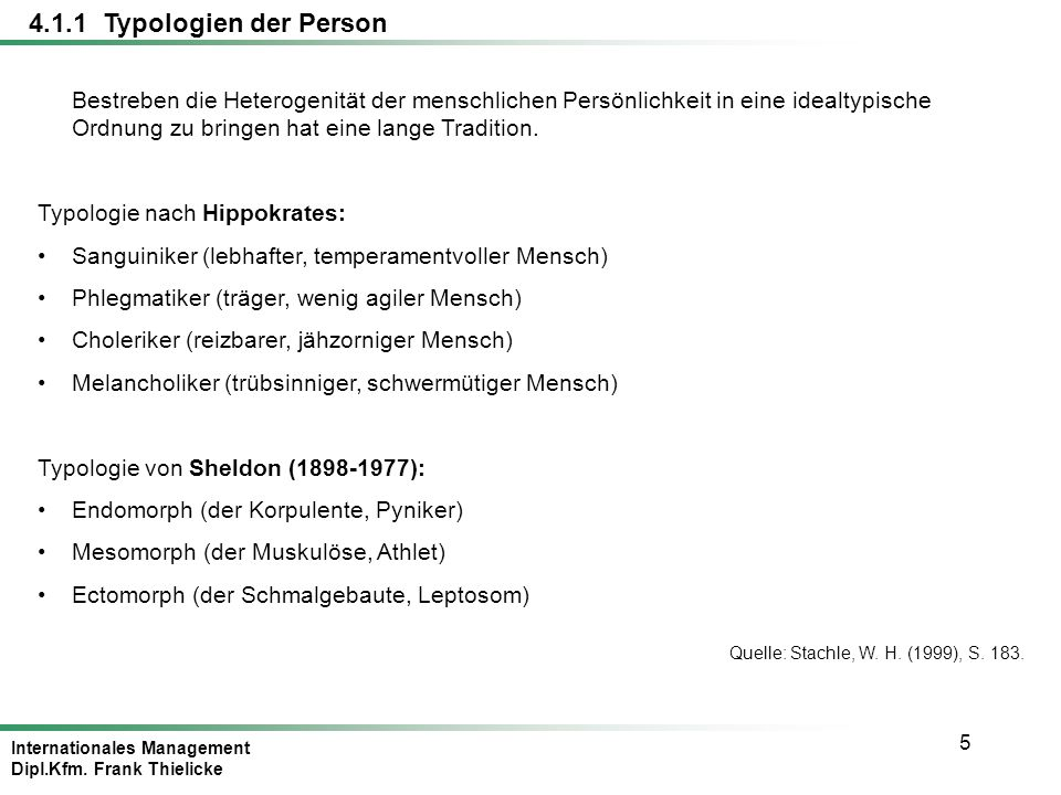 4.1.1 Typologien der Person
