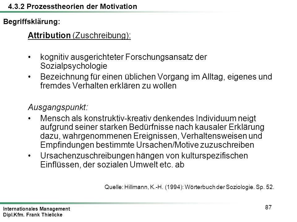 Attribution (Zuschreibung):