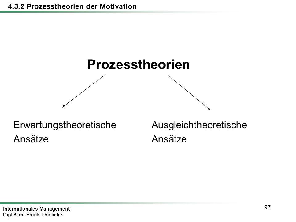 Prozesstheorien Erwartungstheoretische Ansätze Ausgleichtheoretische