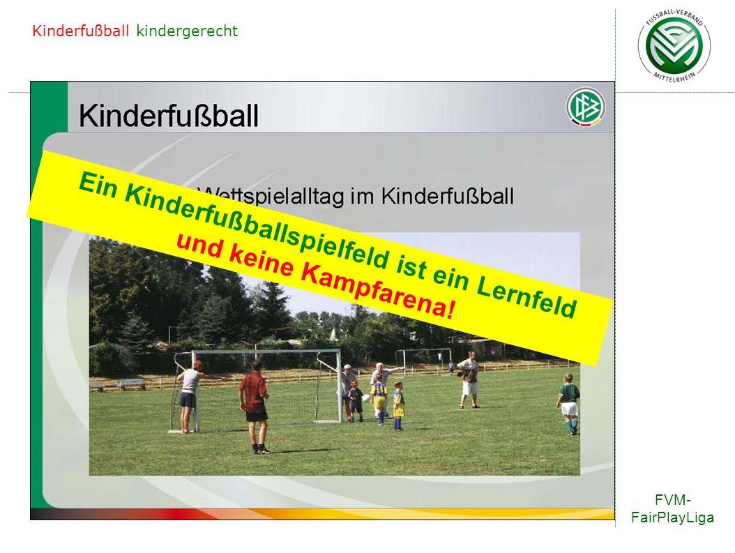 Ein Kinderfußballspielfeld ist ein Lernfeld