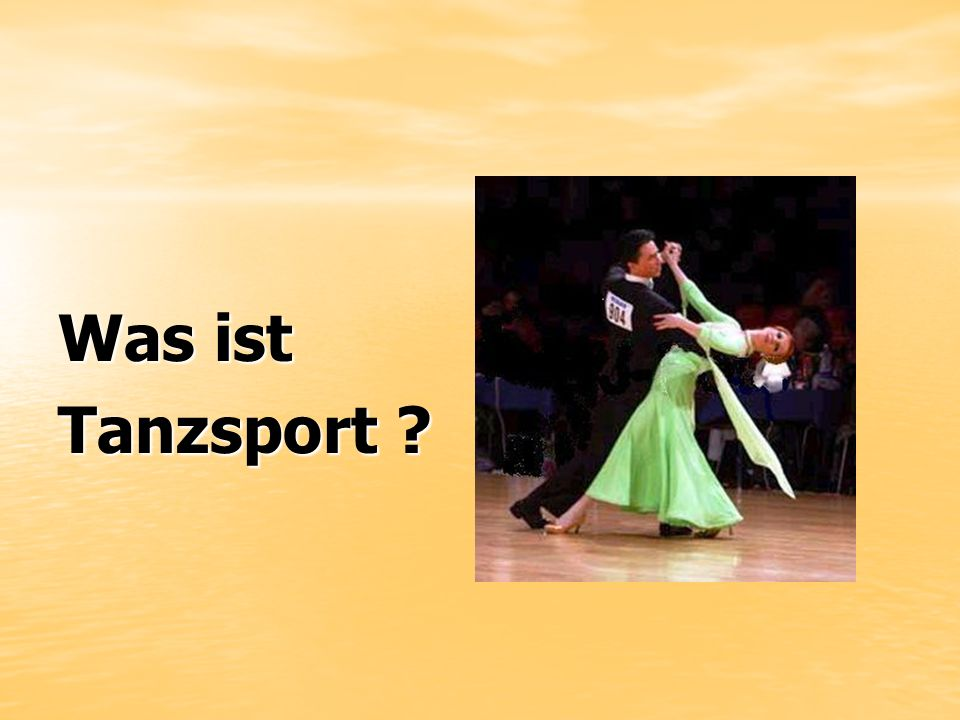 Was ist Tanzsport