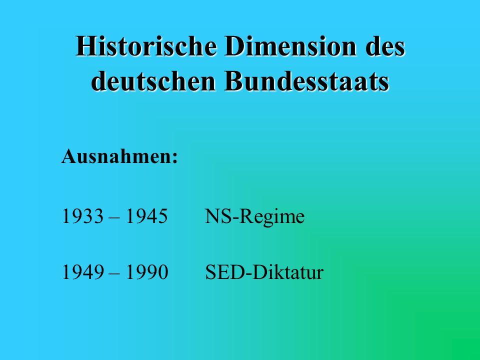 Historische Dimension des deutschen Bundesstaats