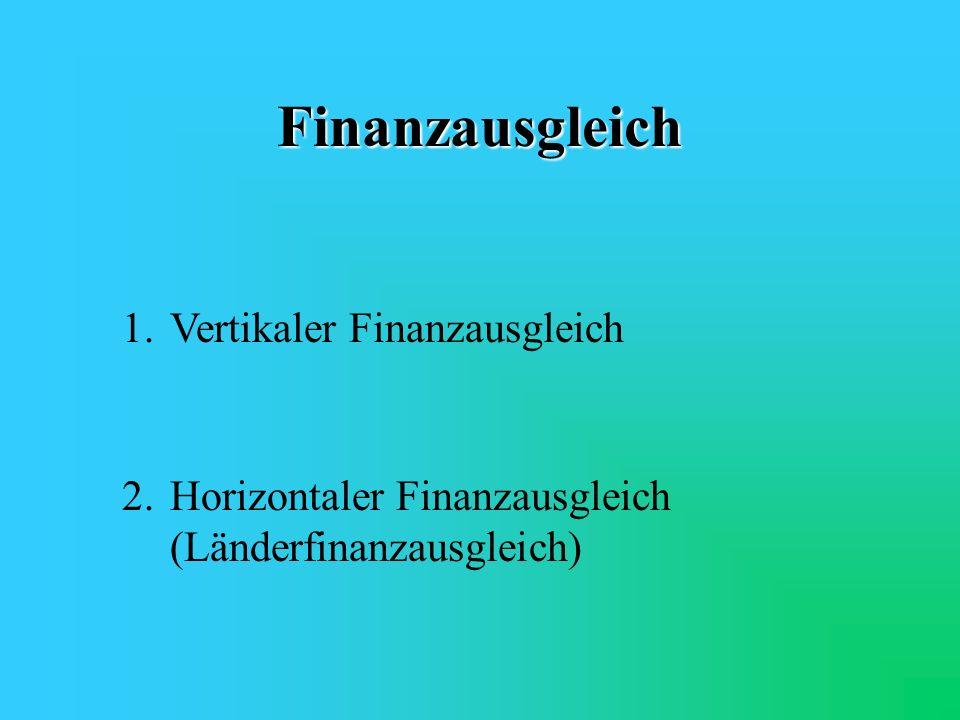 Finanzausgleich 1. Vertikaler Finanzausgleich