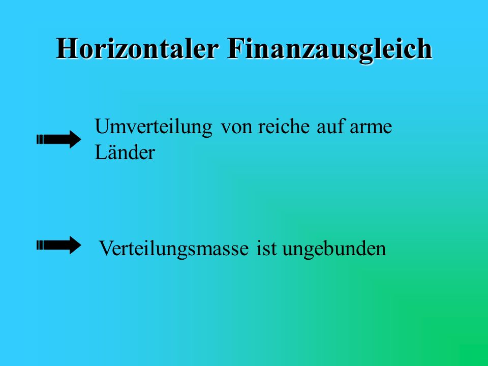 Horizontaler Finanzausgleich