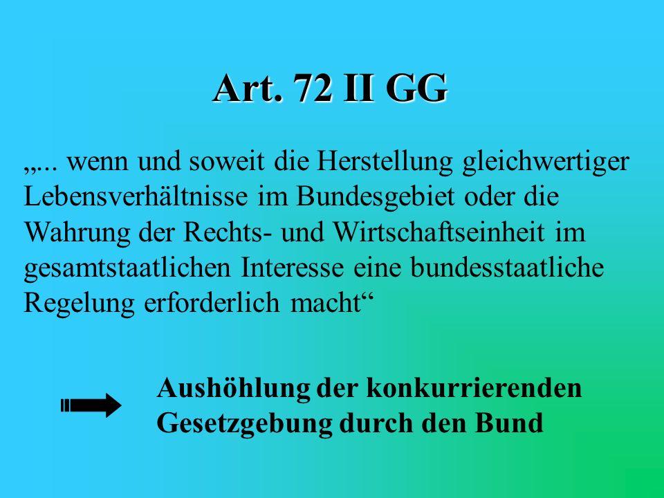Art. 72 II GG