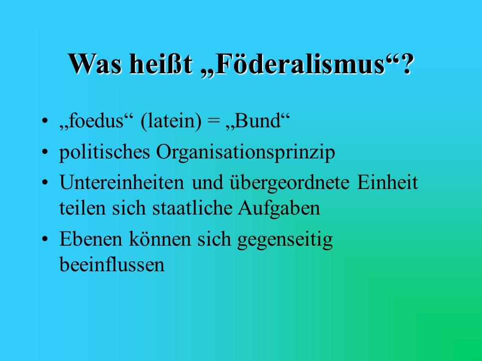 """Was heißt """"Föderalismus"""
