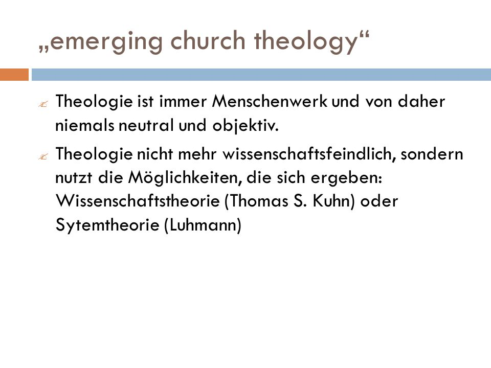 """emerging church theology"