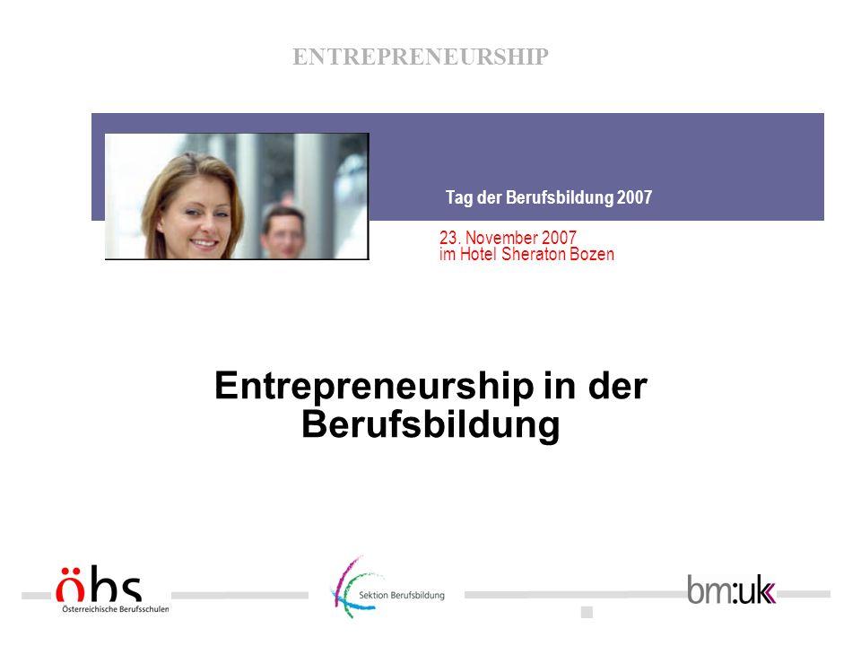 Entrepreneurship in der Berufsbildung