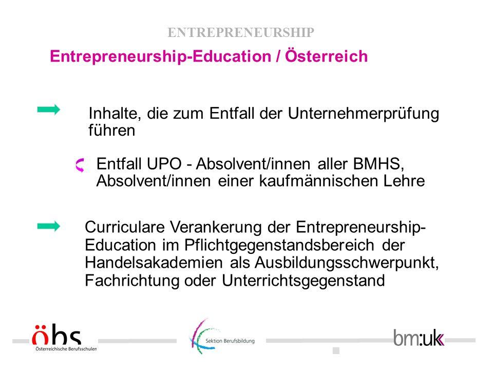 Entrepreneurship-Education / Österreich
