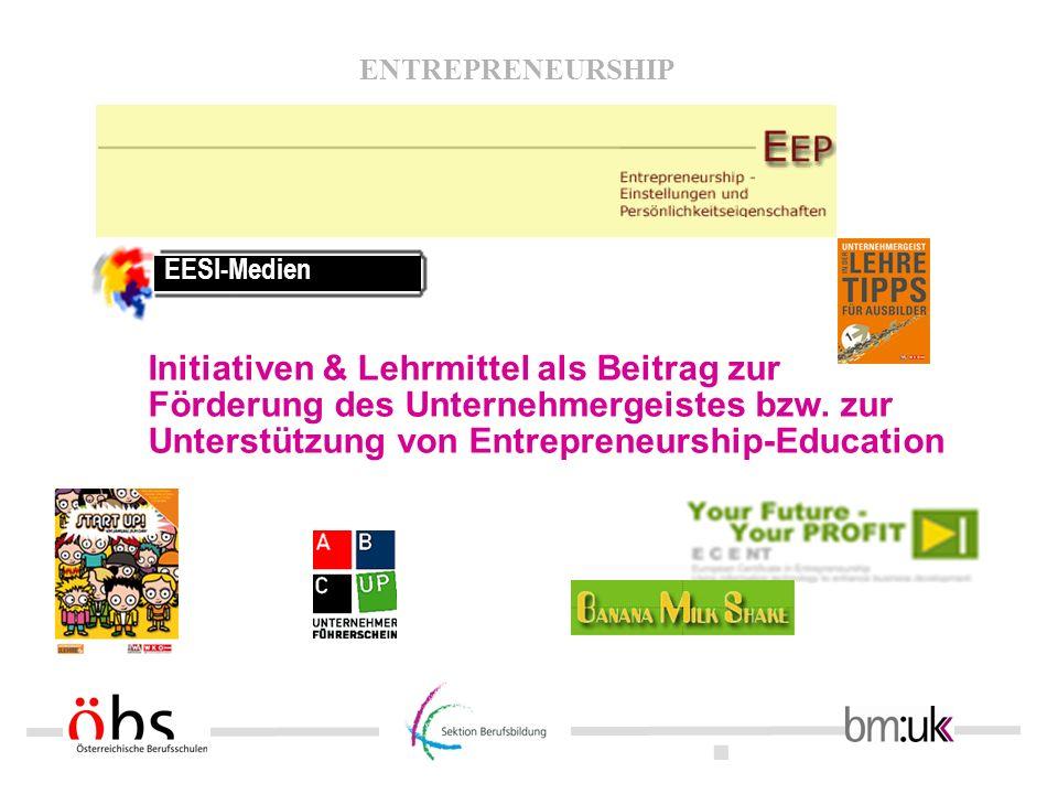 EESI-Medien Initiativen & Lehrmittel als Beitrag zur Förderung des Unternehmergeistes bzw.