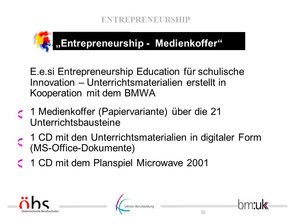 """Entrepreneurship - Medienkoffer"