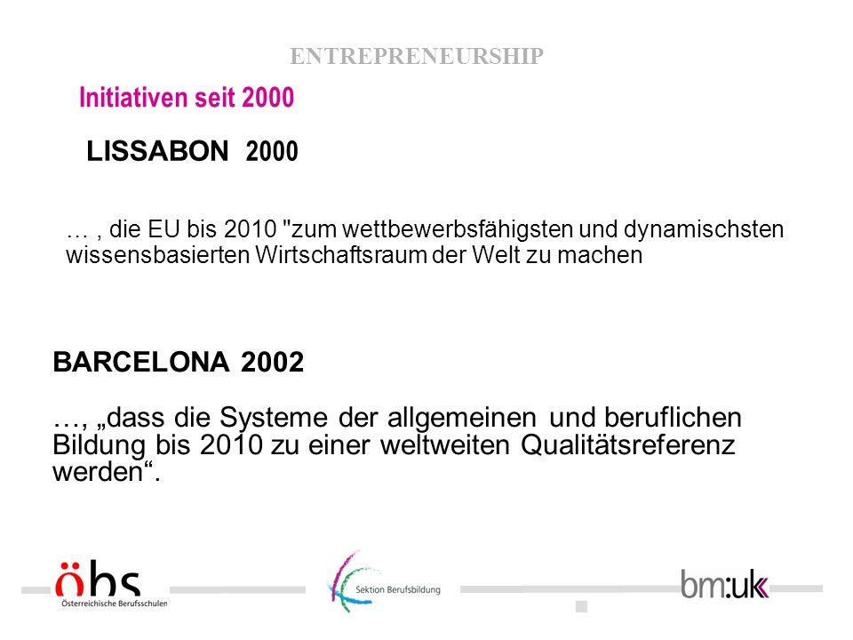 Initiativen seit 2000 LISSABON 2000 BARCELONA 2002