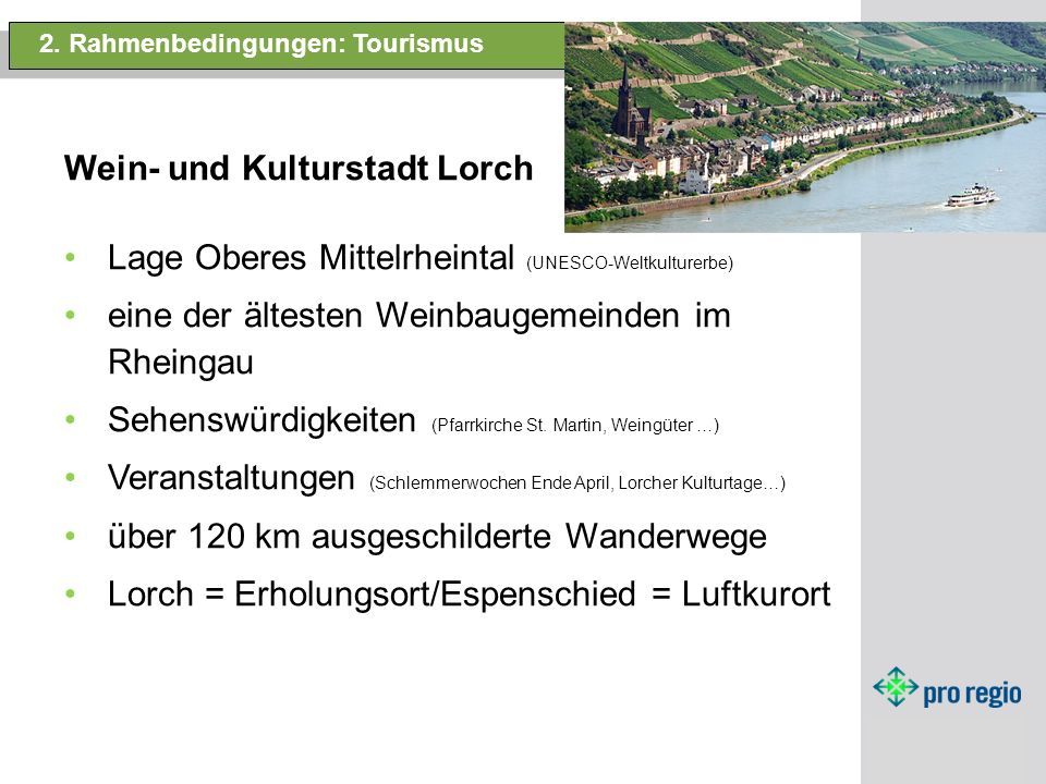 Wein- und Kulturstadt Lorch.