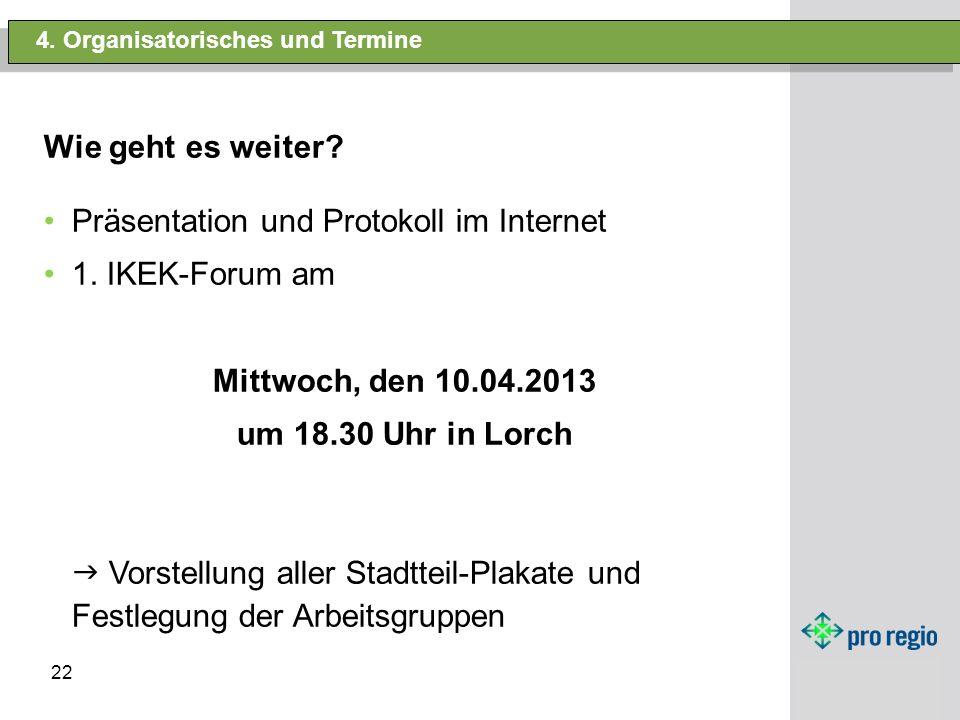 Mittwoch, den 10.04.2013 um 18.30 Uhr in Lorch