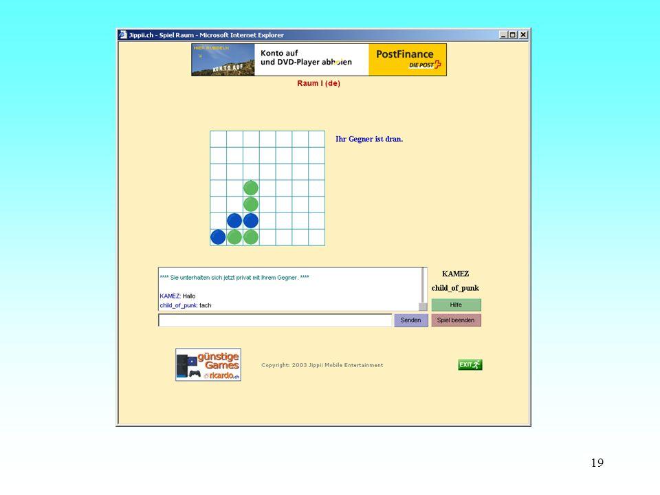 Strategie-und Denkspiele werden auch über Internet als Onlinespiele angeboten.