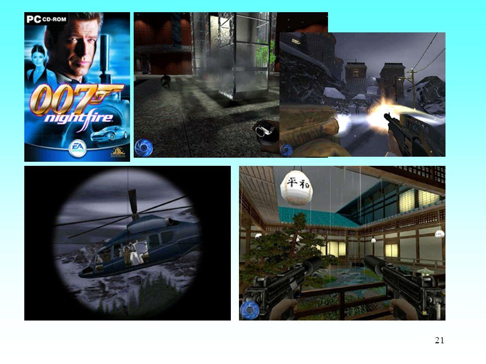 Beispiel James Bond : Jeder der mehr als 10 exotischen Schauplätze aus der ganzen Welt und dem Weltall konfrontiert den Spieler mit herausfordernden Missionen und Einsatzzielen.