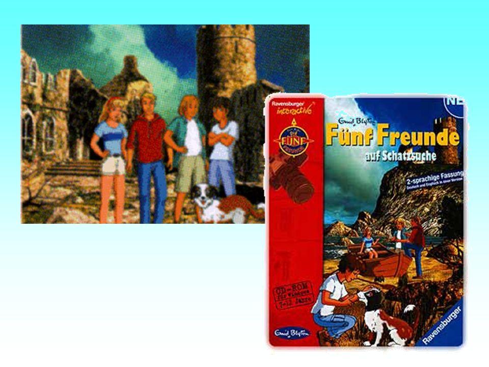 Beispiel die Fünf Freunde: Die bekannten Kinderbuchfiguren machen Ferien im Felsenhaus und stolpern gleich in ein Abenteuer.