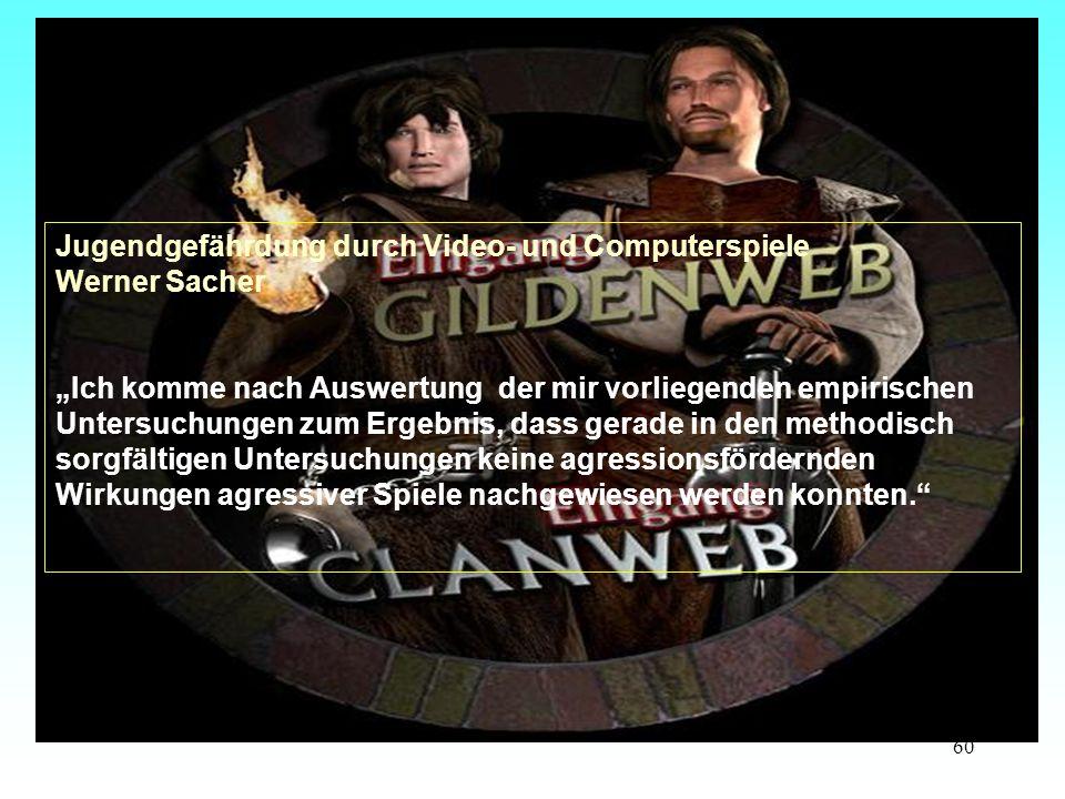 Jugendgefährdung durch Video- und Computerspiele Werner Sacher