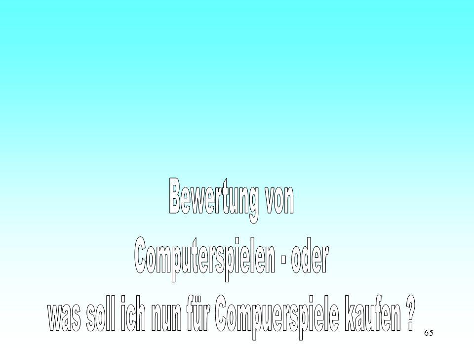 Computerspielen - oder was soll ich nun für Compuerspiele kaufen