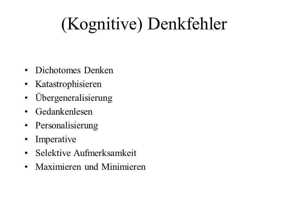 (Kognitive) Denkfehler
