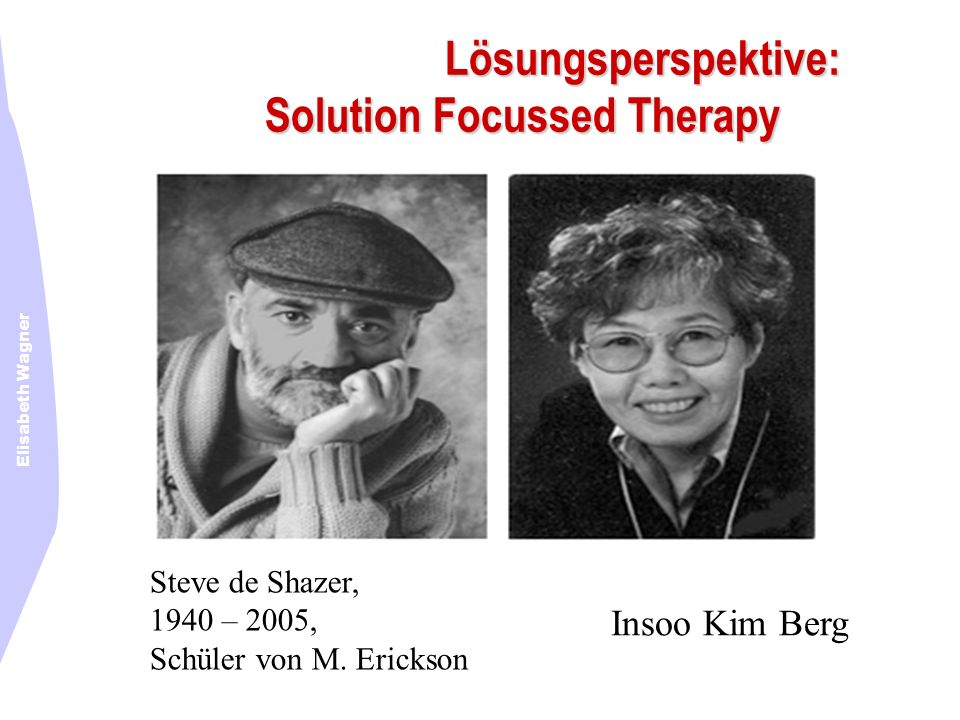 Lösungsperspektive: Solution Focussed Therapy