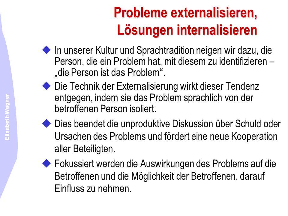 Probleme externalisieren, Lösungen internalisieren