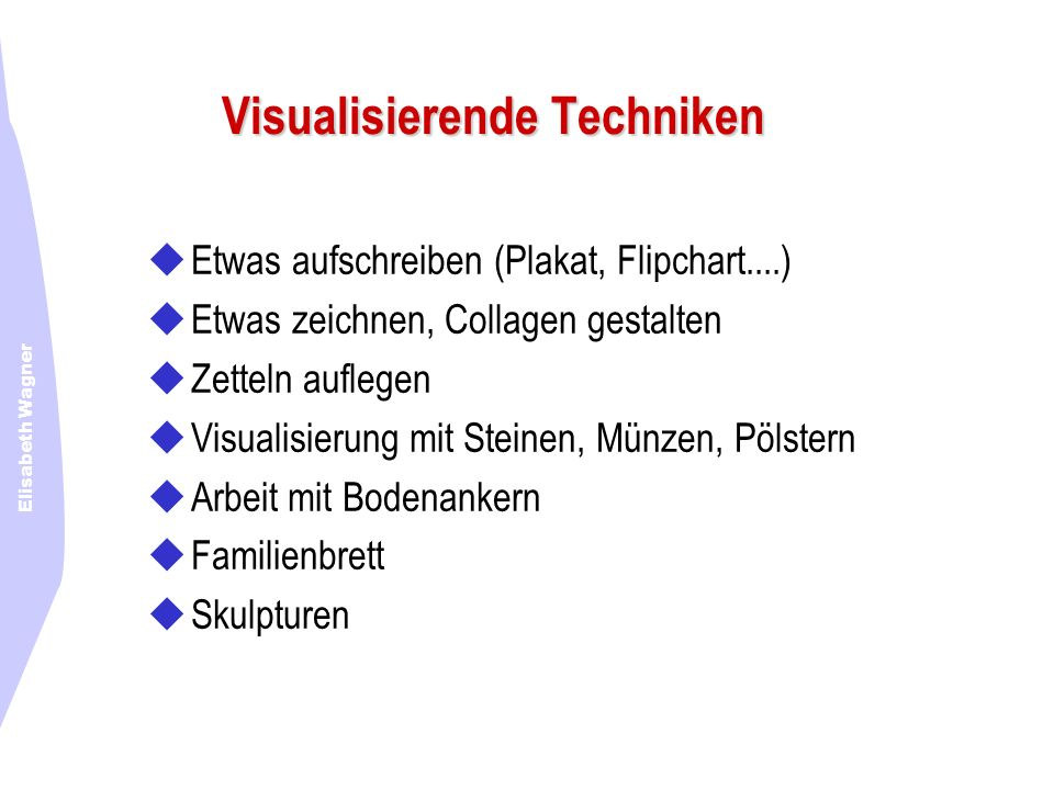 Visualisierende Techniken