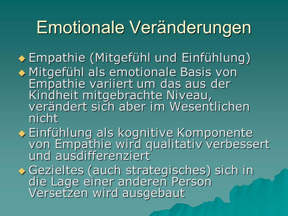 Emotionale Veränderungen