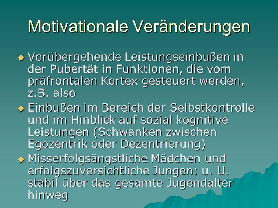 Motivationale Veränderungen