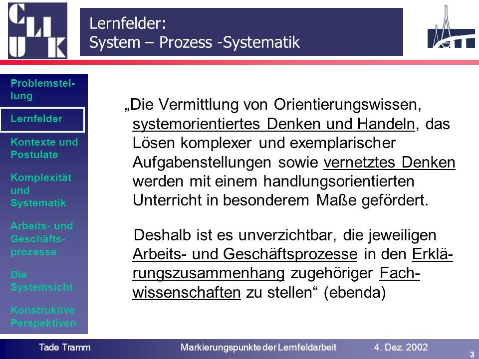 Kontexte des Lernfeldkonzepts