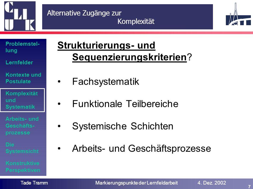 Fachsystematik als Strukturierungskriterium
