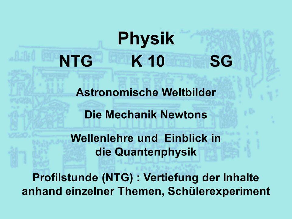 Astronomische Weltbilder Wellenlehre und Einblick in die Quantenphysik