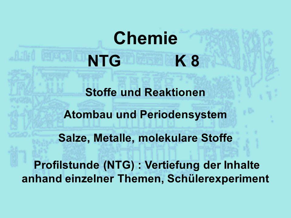 Atombau und Periodensystem Salze, Metalle, molekulare Stoffe
