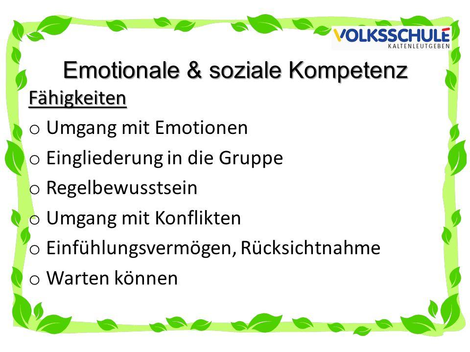 Emotionale & soziale Kompetenz
