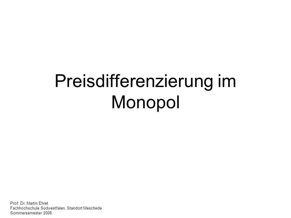 Preisdifferenzierung im Monopol