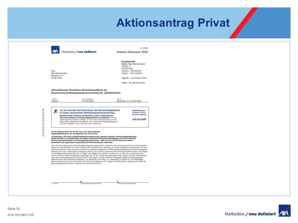 Aktionsantrag Privat AXA Konzern AG